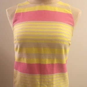 Loft Pink and Yellow Shift Dress
